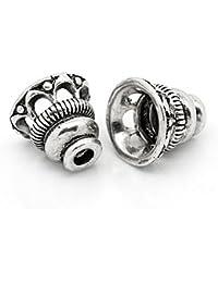 Großverkauf Edelstahl Silberfarbe Blumen Perlen Beads Ende Kappen 6mm