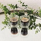 YEM, set di 6 bicchieri Lina, termici, a doppia parete, capacità di 50 ml, adatti per il caffè, la grappa o come ciotole per il dessert