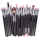 Pennelli Make Up Set Pennelli Trucco,Pennelli Make Up Set Pennelli Trucco,Pinceaux Maquillage Cosmétique Professionnel,Pinselset Make Up Pinsel Set,Profesionales Para Maquillaje Kit,20Pcs Negro Pla