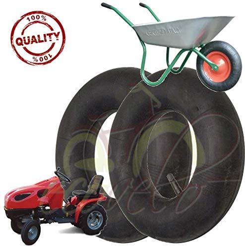 Par de 2 cámaras de aire 3.50/4.00-8 válvula TR13 para neumáticos, ruedas, carretillas, tractores...