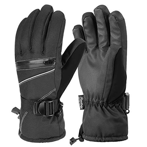 Andake Ski Gloves, Women 3M Thinsulate Touchscreen