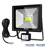 MEIKEE Security Lights, 50w LED Floodlights with Motion Sensor, Waterproof LED PIR Flood Lights Outdoor, High Output 5000 Lumen 150W HPS Lights Equivalent Replaced, Super Bright LED PIR Flood light, Ideal for Garden, Car park, Hotel and Forecourt, Daylight White
