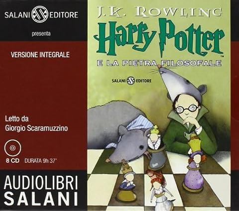 Harry Potter e la pietra filosofale letto da Giorgio Scaramuzzino. Audiolibro. 8 CD Audio