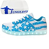 (Present:kleines Handtuch)Blau EU 43, Unisex shoes schuhe Flagge Herren Rot USA Light Up Adult Blink Kinde
