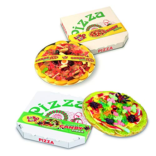 2 er Pack Look O Look Pizza – Candy & Candy Jungle Pizza Fruchtgummi & Schaumzucker Mix 2 x 435 g