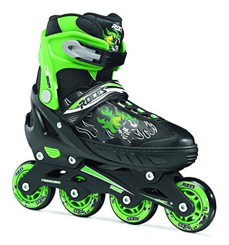 Roces Pattini in linea da Ragazzo Compy 6.0, Ragazzo, Inline-skates Compy 6.0, black-light green, 34-37