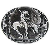 MagiDeal Boucle de Ceinture Vintage en Métal Ovale Cowboy Western Mode - Motif # 3, 10 x 7,3 cm