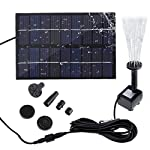 SIEGES 1.8W Solar Power Panel Submersible Water Pump Kits for Lawn Garden Pond Fountain Pool Water Cycle , Pond Fountain… 8