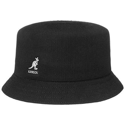 Kangol Tropic Bin Unisex Bucket Hat mit schmaler Krempe - Schwarz (BK001) - 58-59 cm (L)