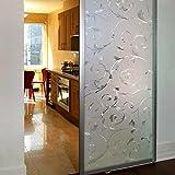 JiaQi 3D Fensterfolien,Fensterfolie sichtschutz,Europäischer Stil Glas Aufkleber Balkon Fenster-Aufkleber Dekor Nichtklebende wärmekontrolle-A 50x100cm(20x39inch)