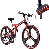 Bicicleta, Bicicleta De Montaña, 26 Pulgadas De Disco Doble Freno De Aleación De Aluminio De Alta Gama De Vehículos Todoterreno, Adecuado para el alpinismo ...
