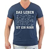 Männer und Herren T-Shirt Installateur Klempner Das Leben ist Ein Rohr (mit Rückendruck) Größe S - 8XL