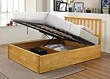 Furniturevilla Zoe Aufbewahrung Beds Doppelbett massives Gummibaumholz Eiche, Doppelbett Rahmen, Größe Bett, Schlafzimmer-Möbel