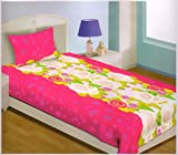100 % Cotton Single BedSheet With Pillow...