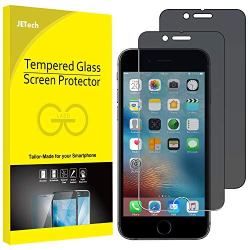 JETech Schutzfolie für iPhone 6s Plus und iPhone 6 Plus, Anti-Spähen Gehärtetem Panzerglas Blickschutzfolie, 2 Stück