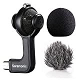 Saramonic Stereo Kondensator-Mikrofon mit Mini-USB mit Foam & Furry Windschutzscheiben, für GoPro Hero 3 3+ 4 Sport Action Video Kamera Schwarz