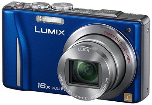 Panasonic Lumix DMC-TZ22EG-A Digitalkamera (14 Megapixel, 16-fach opt. Zoom, 7,5 cm (3 Zoll) Touch LC-Display, GPS, Full HD, 3D, bildstabilisiert) blau 3-zoll-panasonic Lumix