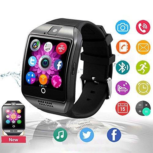 Smartwatch Android, Impermeabile Bluetooth Smart Watch con Camera SIM TF Card Slot Sport Watch Pedometro Orologio Intelligente Facebook WhatsAPP Wrist Watch Telefono Braccialetto per Uomo Donna