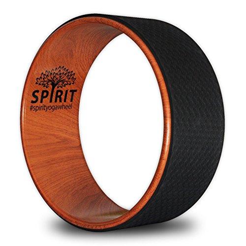 Spirit Yoga Wheel – Premium Yoga-Rad - Hochwertiges Yogazubehör - Geeignet für komplexe Asanas - Belastbarkeit bis zu 200kg - Edles Holz Design - vegan & eco-friendly ♻️ ✔️