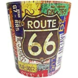 Bag of Small Things Paper Dustbin for Home/Office Retro Printed Design - Route 66