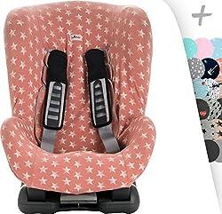 Schutzhülle Universal für Auto-Kindersitz Gruppe 1, 2 und 3 Janabebe® (Pink Star)