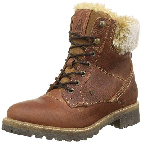 Gaastra Damen Lucia High TMB Fur Combat Boots, Beige (2400 Cognac), 38 EU (Boot Lucia)