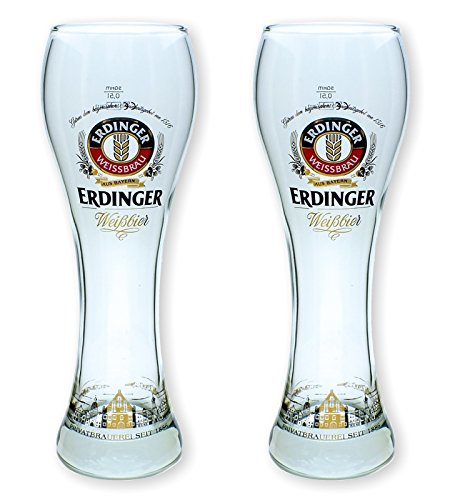 2 Erdinger Weissbier Gläser 0,5l - Exclusiv Edition