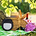 Relaxdays Picknickgrill mit Kühltasche, tragbarer Campinggrill, Ø 26 cm, Mini Grill für leckeres BBQ & Festival, schwarz
