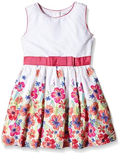 Happy Girls Mädchen Kleid mit Blumenborte, Geblümt