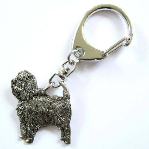 Affenpinscher Keyring Silver Finish