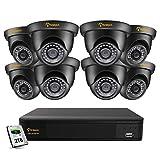 Anlapus 5MP Kit Videosorveglianza 8CH H.265+ Registratore DVR con 8 Fotocamera Esterna 2TB Disco Rigido, 20M Visione Notturna, Accesso Remoto
