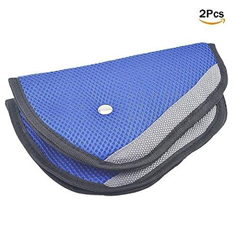 ASIV 2pcs Car Seat Belt Cover Pad, Best Protection for Kids Children, Blue