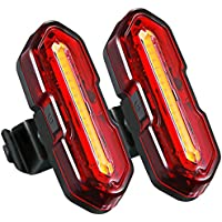 TOPELEK USB Rechargeable Bike Rear Light【2 Packs】 Powerful LED Bike Tail Lights