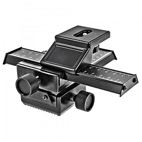 Minadax Professioneller *VOLLMETAL* 3D Einstellschlitten - 4-Wege Makroschiene fuer Panorama- und Makrofotografie