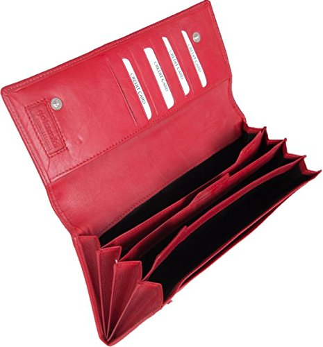 Leather Travel Dokumententasche/Organizer-Tasche Rot
