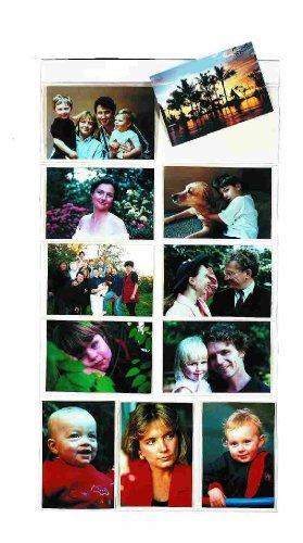 röße AA) hängen Foto Galerie-80Fotos in 40Taschen (wendbar) flach Pack, Kunststoff, Kunststoff, Magnetic (H) Flat - 11 4x6
