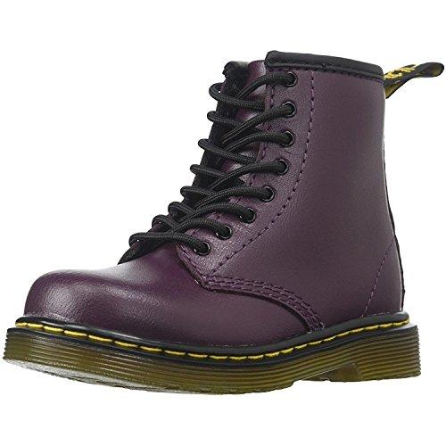 Dr.Martens Kids Delaney 1460 8 Eyelet Zip Purple Leather Boots 36 EU (Ankle Boots Eyelet)