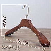 Kexinfan Hanger 5 Suit Hangers Wooden Broad-Shoulder Clothing Wooden Hanger Slip Hanger Male Coat Wooden Hanger 8826