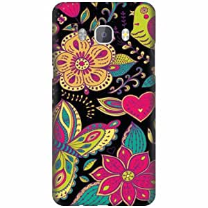 PrintlandDesignerHard Plastic Back Cover For Samsung J5 new edition 2016 -Multicolor