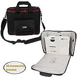 BUBM-Projektor-Tasche, Beamertasche tragbare Tragetasche für Projektor und Zubehör, passend für EPSON / SONY / BenQ / Acer / Hitachi / Panasonic / Optoma, mit Schulterriemen, mittel