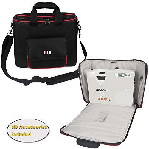 BUBM-Projektor-Tasche, Beamertasche tragbare Tragetasche für Projektor und Zubehör, passend für EPSON / SONY / BenQ / Acer / Hitachi / Panasonic / Optoma, mit Schulterriemen, mittel (Baby Bump-monitor)