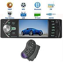 PolarLander 12V 4.1HD la radio de coche Estéreo MP5 FM / cargador 5V / MP3 / MP4 / Audio / Video / USB / TF / AUX / soporte de la cámara de visión trasera y el coche DVR de 1 DIN