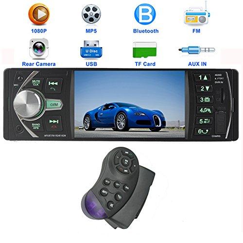 PolarLander 12V 4.1HD Autoradio Car Stereo-Radio-MP5 FM / 5V Ladegerät / MP3 / MP4 / Audio / Video / USB / TF / AUX / Unterstützung Rückfahrkamera und Auto DVR Input 1 DIN