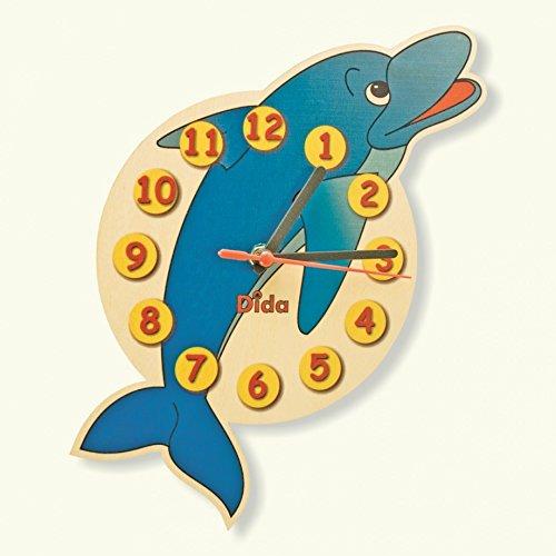 Dida - orologio delfino. orologio da parete in legno per arredare la camera dei bambini.