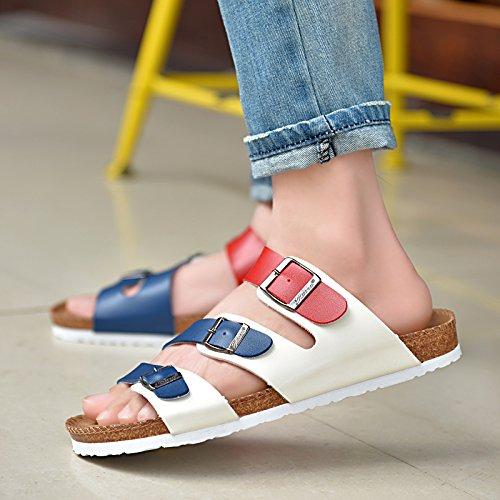 Xing Antiscivolo Clip Lin Scarpe Di Piede Blu Pantofole Estivi Di Rosso Bianco Spiaggia Sandali Uomini qxFqdXr