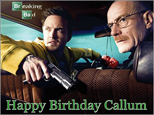 Used, A4 Breaking Bad Personalised Edible Icing Birthday for sale  Delivered anywhere in UK