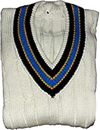 CW Classic White Cricket Sweater Sleeveless