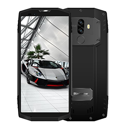 Blackview BV9000 Pro: Robustes Full-HD DUAL-SIM Ourdoor-Smartphone einmaliger 18:9 Full HD 4G Screen Wasser, Staub, Stoßgesichert, 6GB + 128GB, 13+5MP Dual Kamera 4180mAh-Schnelladeakku, Face ID -Grau