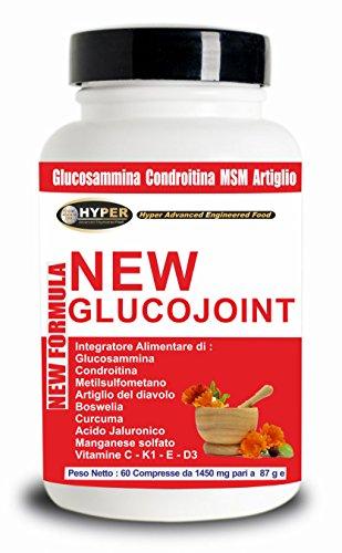 Glucosamina Coindroitina MSM Acido Ialuronico 60 compresse Integratori Dolori Articolari Artrosi Salute delle Articolazioni Elevato Dosaggio Artiglio del Diavolo Curcuma Boswellia Acido Manganese