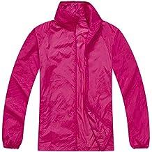 Mochoose Donna Super Leggero Giacca Indumenti Impermeabili all'aperto con Cappuccio Quick Dry Windbreaker UV Cmpermeabile Proteggere la Pelle Coat